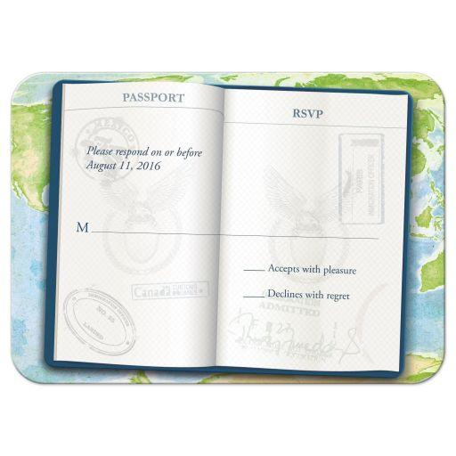Bar Bat Mitzvah RSVP Reply Card - Open Passport World Travel