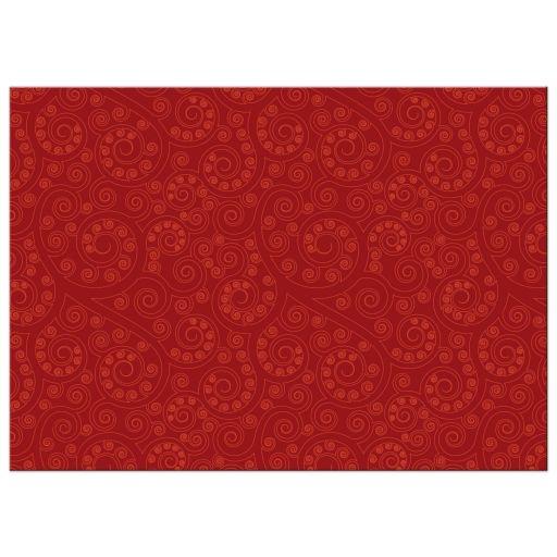 Diwali Greeting Photo Card - Red Paisley Diwali Lamp