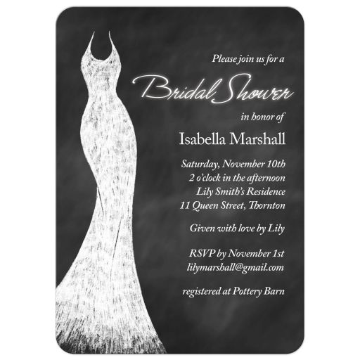 White Chalk Bridal Shower