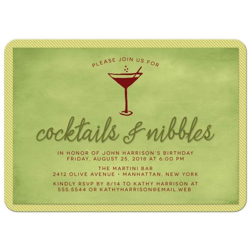 Cocktails & Nibbles Party Invitation front