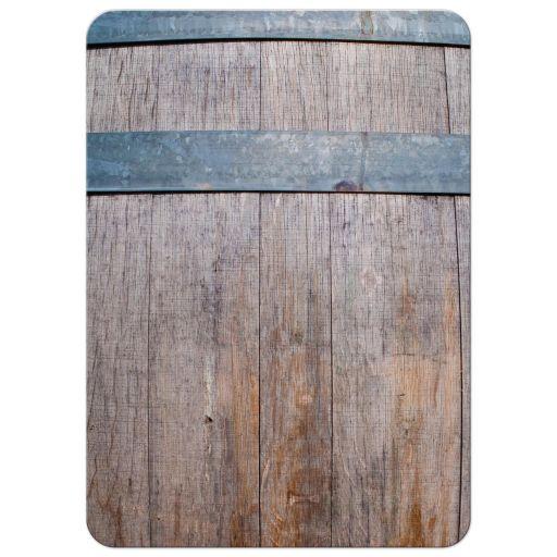Wedding Invitation - Rustic Winery Vineyard Wine Bottle