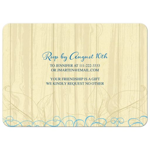 80th birthday party invitations - vintage cream (yellow) and blue floral back