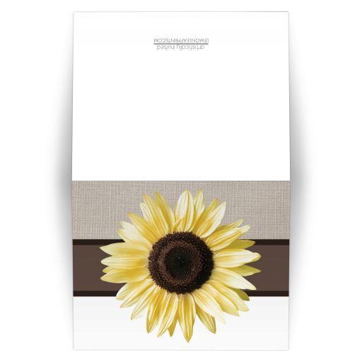 Note Cards - Rustic Sunflower and Mocha Linen