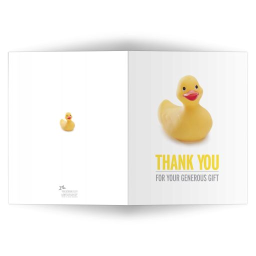 Thank You Card - Yellow Rubber Ducky Baby Shower Thank You