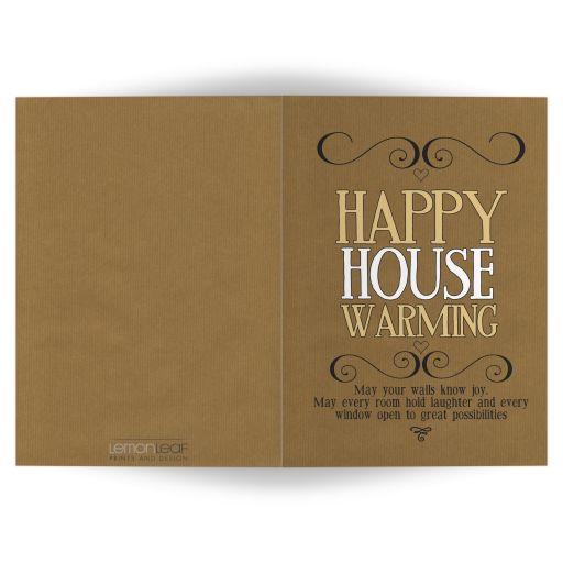 Kraft Pinstripes Happy Housewarming Greeting Card