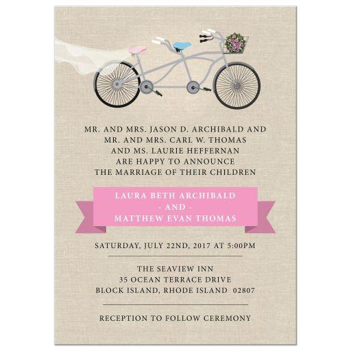 Pink Tandem Bicycle