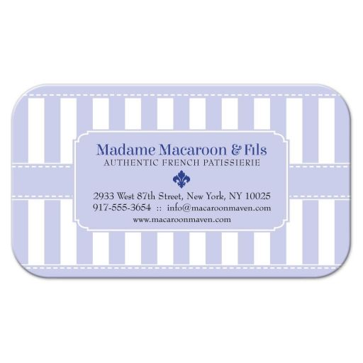 Business Card - Pastel Purple Patisserie Bakery Stripes