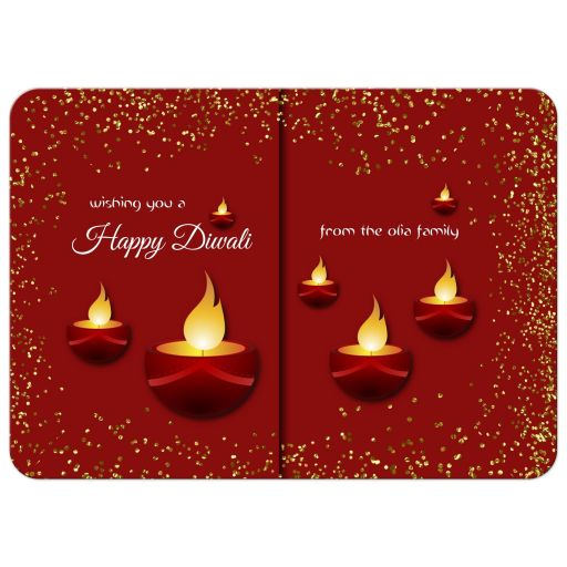 Elegant Happy Diwali Holiday Greeting Card