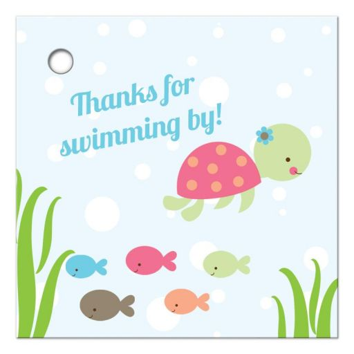 Under the sea thank you favor gift tag