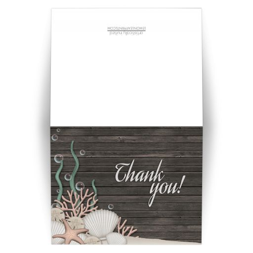 Thank You Cards - Rustic Beach and Wood