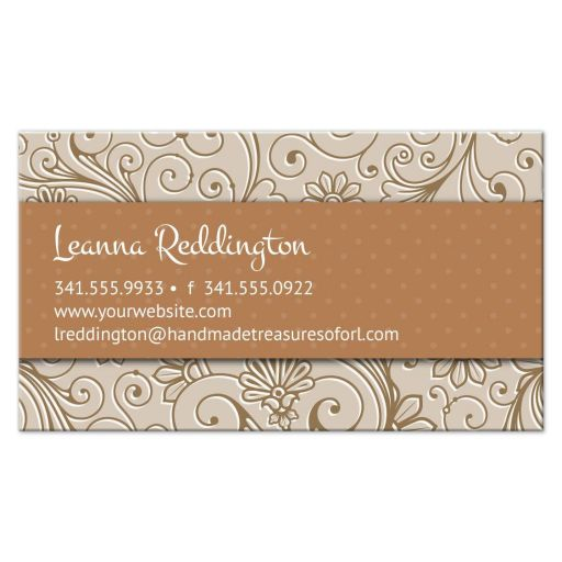 Business Card - Crafters Handmade Floral Damask