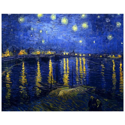 8x10 Wall Art Featuring Van Gogh's Starry Night Over the Rhone