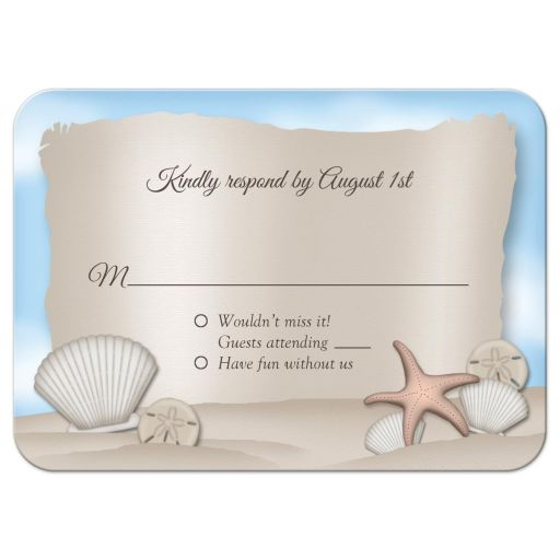 RSVP Reply Cards - Beach Message from a Bottle