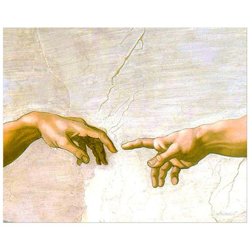 8x10 Wall Art of Michaelangelo Buonarroti's The Creation of Adam
