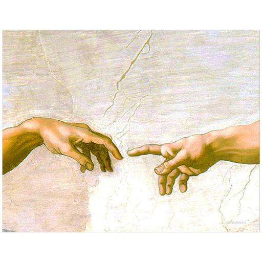11x14 Wall Art of Michaelangelo Buonarroti's The Creation of Adam