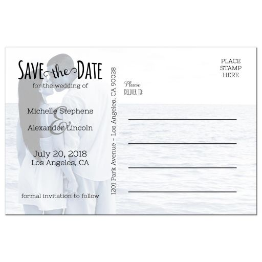 Tying The Knot Custom Save The Date Photo Post Card