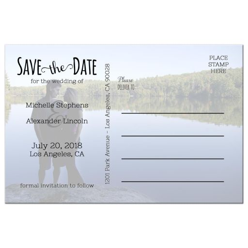 Cute Lips And Mustache Photo Save The Date Post Card