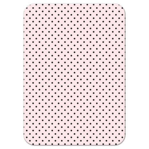 Retro Polka Dots & Flowers Wedding RSVP Cards back