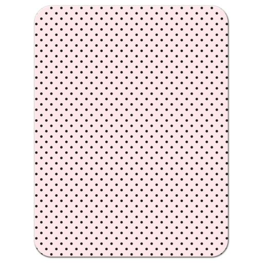 Retro Polka Dots & Flowers Wedding Enclosure Cards back