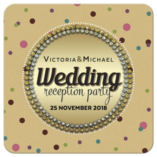 Polka Dot Gem Surprise Wedding Reception