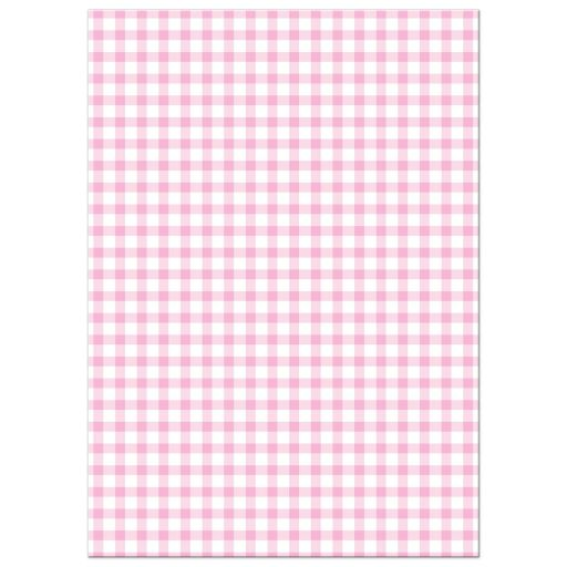 Housewarming Moving Announcement - Pink Gingham Dollhouse