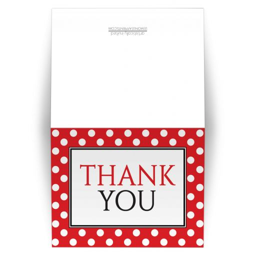 Thank You Cards - Polka Dot Red and White