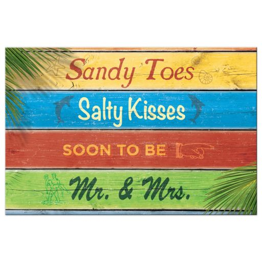 sandy toes salty kisses save the date