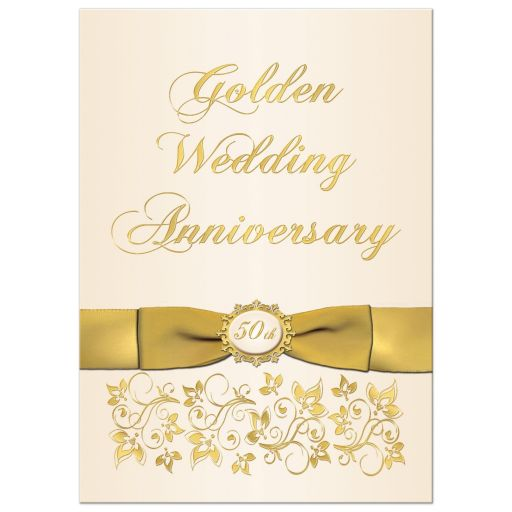 best 50th Wedding Anniversary Invitation
