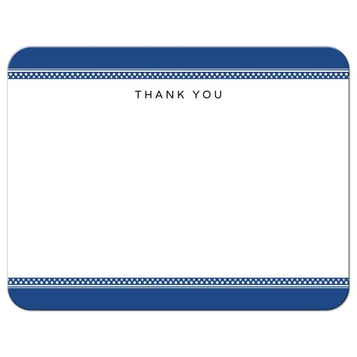 Front of nautical themed wedding or baby shower thank you card