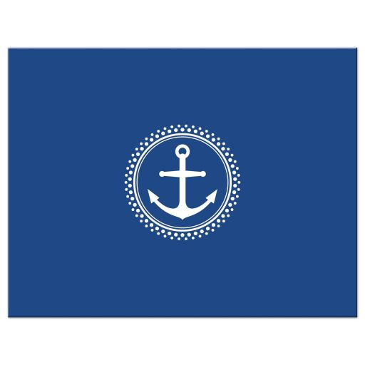 Navy blue back for flat thank you note cards