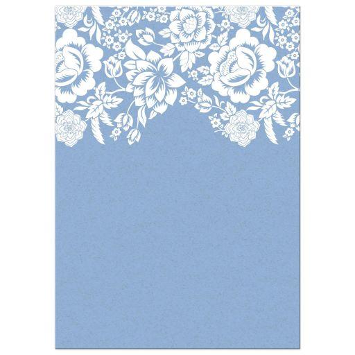 Modern Blue Floral Damask Wedding invitation