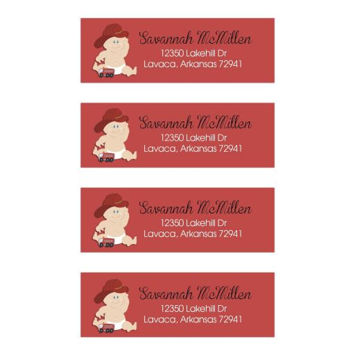 Firefighter Baby Address Mailing Labels