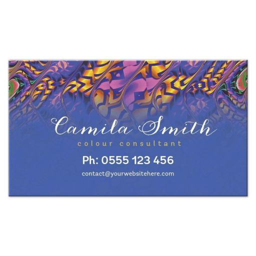 Tropical Color Consultant Business Cards