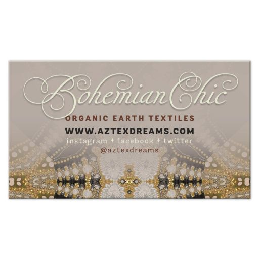 Desert Earth Bohemian Chic Business Cards