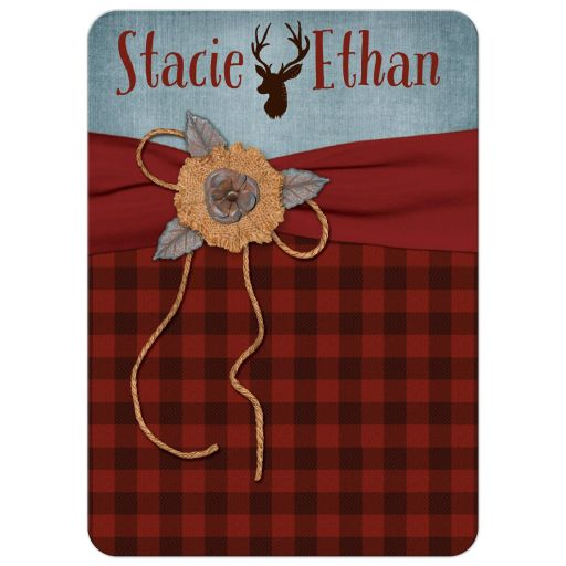Best rustic hipster wedding invitation with deer