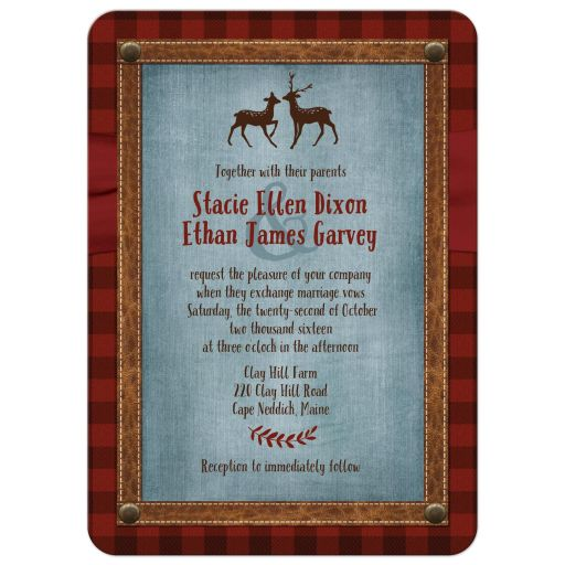Great outdoors wedding invitation