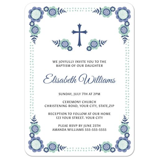 Lace Baptism Invitations for luxury invitations example