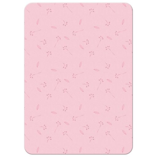 Watercolor floral bridal shower invitation orange pink mint back