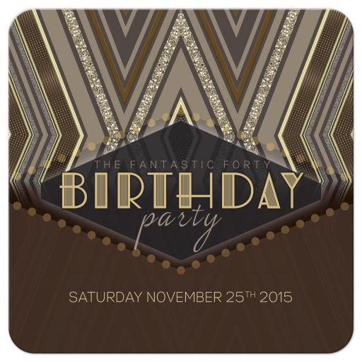 Gatsby Glam Birthday Party Invitation