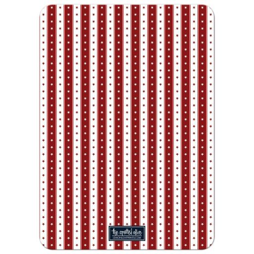 Stars & Stripes 4th of July Party Invitation back