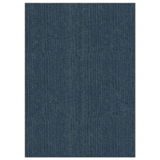 Blue jeans denim and lace wedding invitation back
