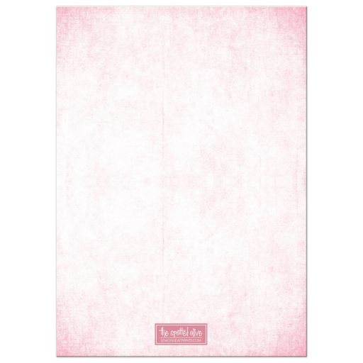 Pink Glitter Look Streaming Gems Baby Shower Invitations back