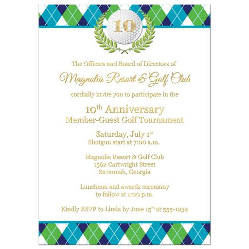 Best corporate golfing invitation