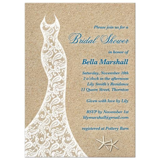 Lacy Beach Wedding Dress