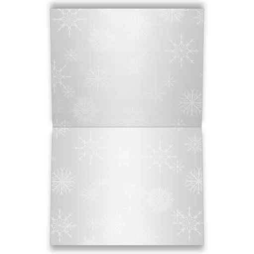 Best affordable bat mitzvah thank you card in blue, silver and white snowflakes with glitter, ribbon, and star of david