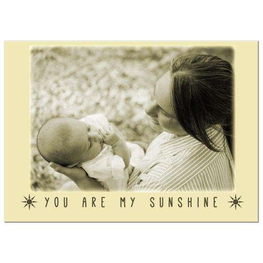 You Are My Sunshine Personalized Horizontal Mother's Day Print