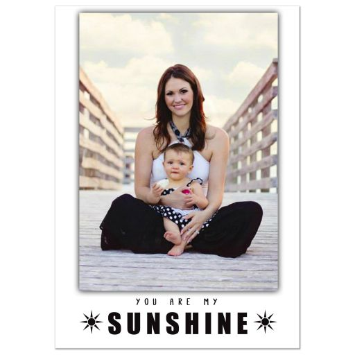 You Are My Sunshine Personalized Vertical Mother's Day Print