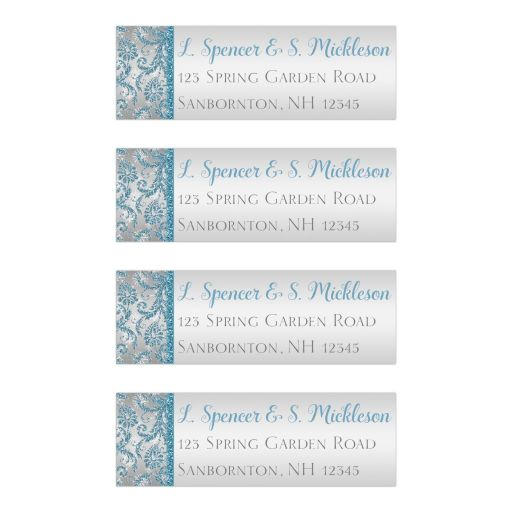 Best winter wonderland return address labels