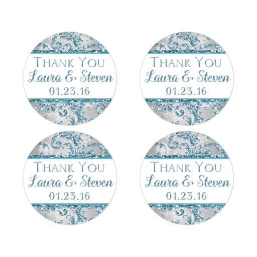Best winter wonderland return address stickers or favor stickers or seals