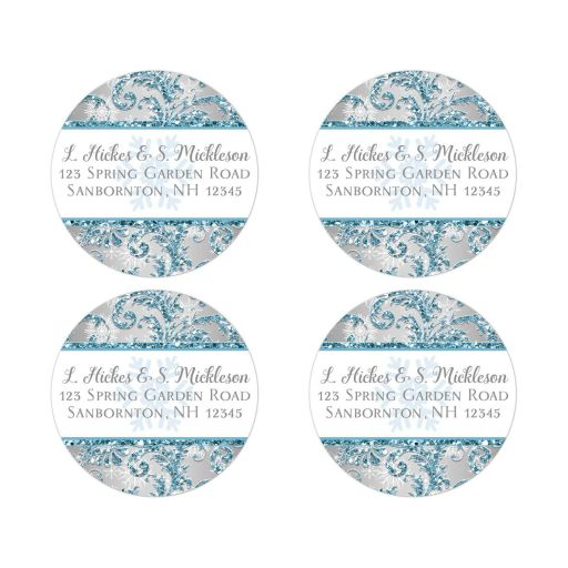 Best winter wonderland return address sticker or seal